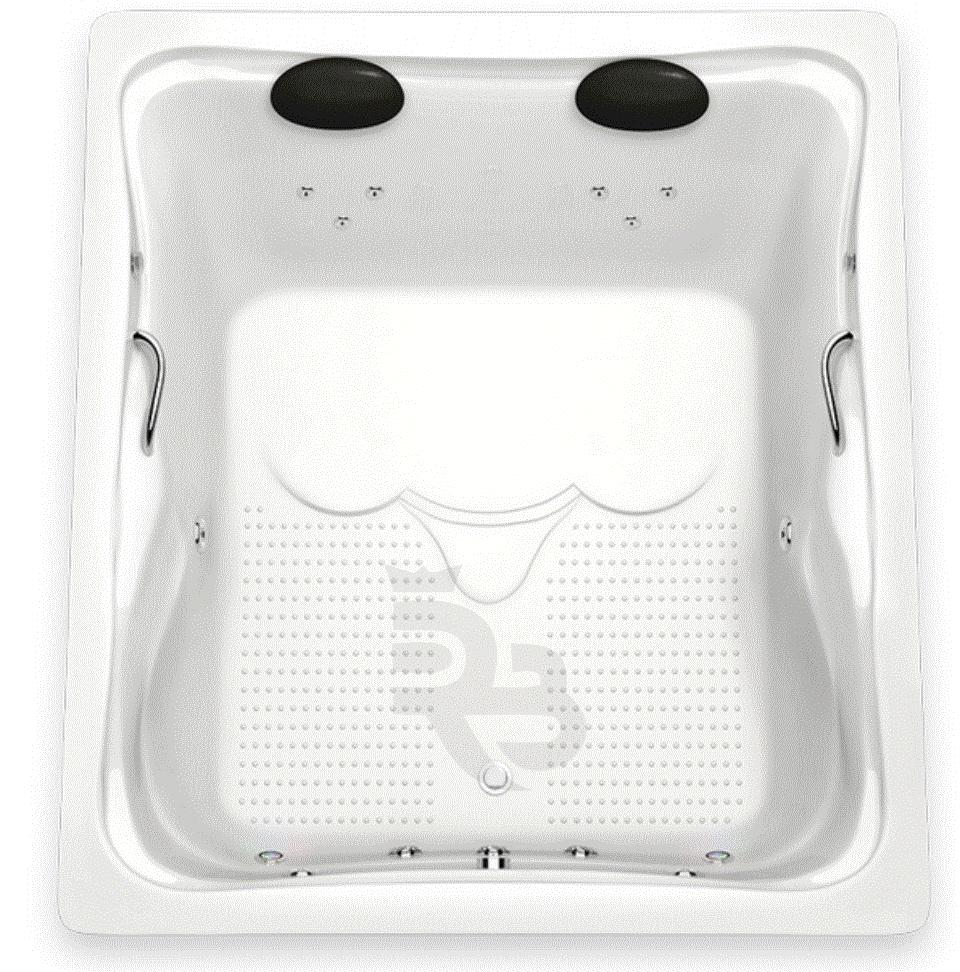 Banheira Hidro Big Maresias 1,80x1,50x0,45 GelCoat Alto Brilho