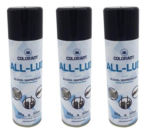 12 Spray Álcool Isopropílico Limpa Placa E Circuito 300ml