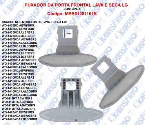 Kit 10 peças Puxador Porta Lg Lavaseca Wd-1403 Wd1409 Meb61281101