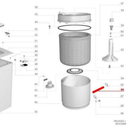 Mangueira Tanque Bomba Lavadora Lados Diferentes - Electrolux
