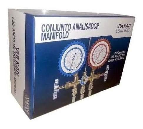 Manifold Vulkan Vlct-636g Para R12, R22, R134a E R404a