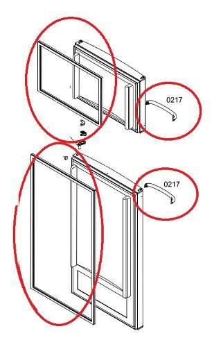Kit Puxador e Borracha Gaxeta Freezer e Refrigerador - 2 Unidades - Bosch