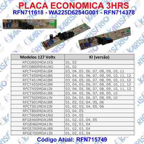Placa Economica 3Hrs Continental 127v 225d6254g001 - 711618- 715749a