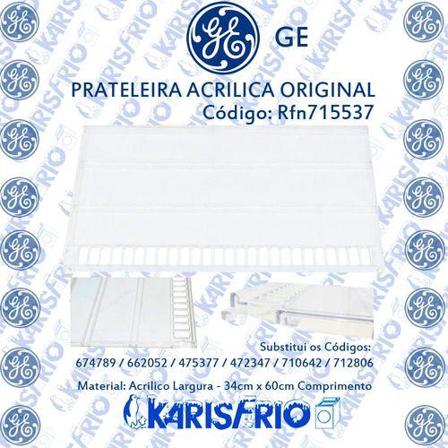 Prateleira Acrilica Refrigerador Ge 100% Original