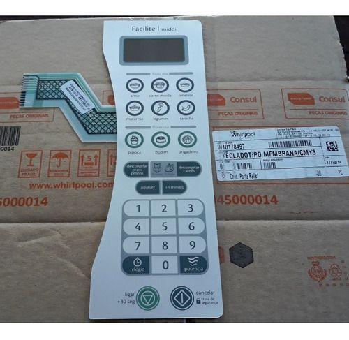Teclado Membrana Painel Microondas Consul Cmy30ar -w10178497