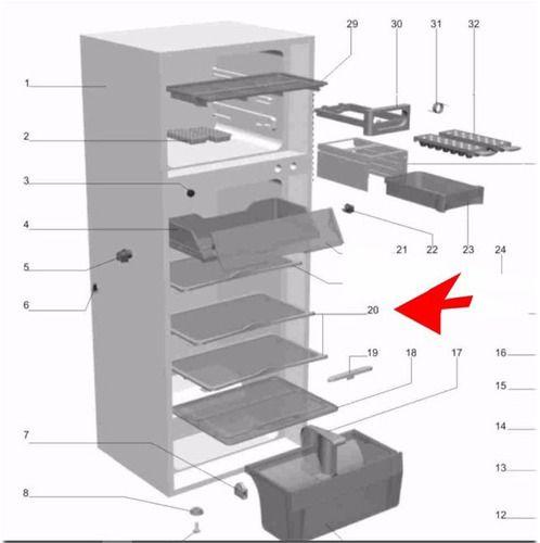 Prateleira Aramada Refrigerador - Electrolux