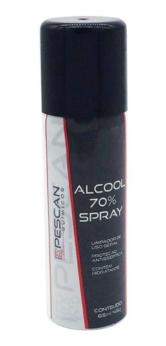 3 Spray Álcool 70% Antisséptico Higienizador 65 Ml