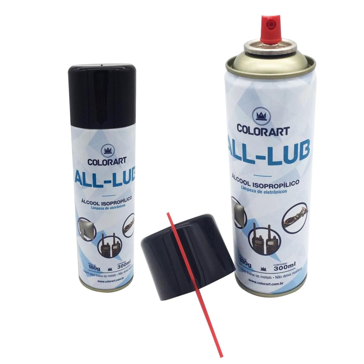 6 Spray Álcool Isopropílico Limeza Eletronicos Celular 300ml