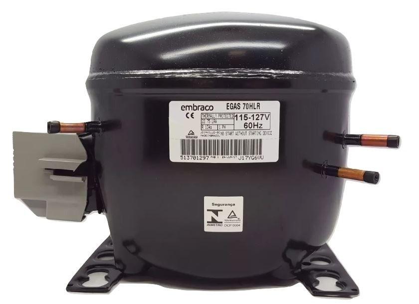 Compressor 1/5 + Egas70hlr Gás R134 127v Cód.W10330848