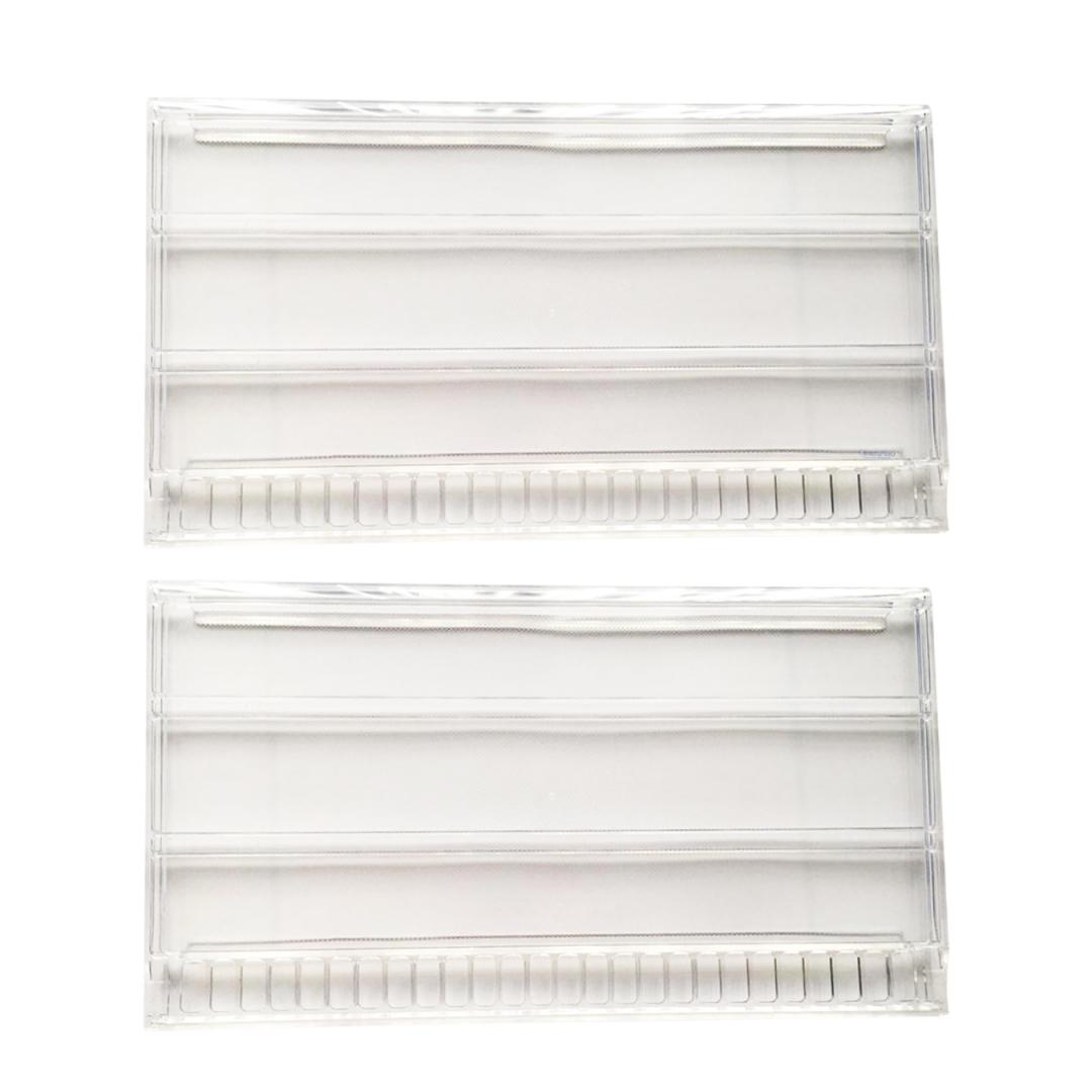 Conjunto De 3 Prateleira Acrílica Refrigerador Continental