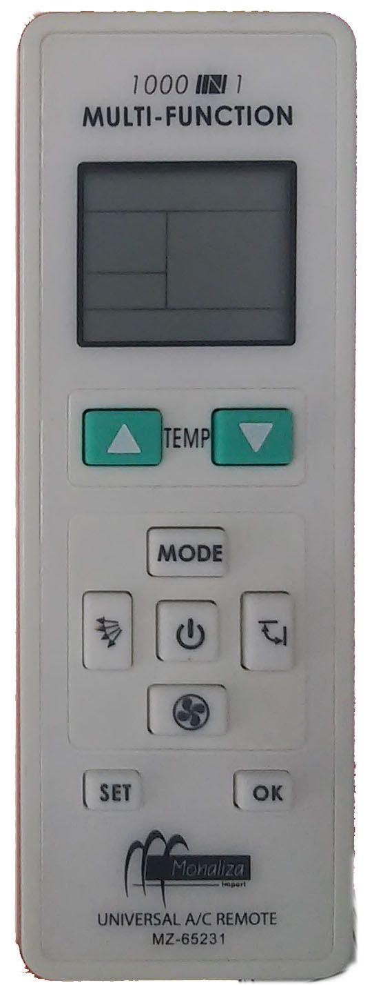 Controle Remoto Universal para Split  Serve em mais de 1.000 Modelos e Marcas Código: CR1