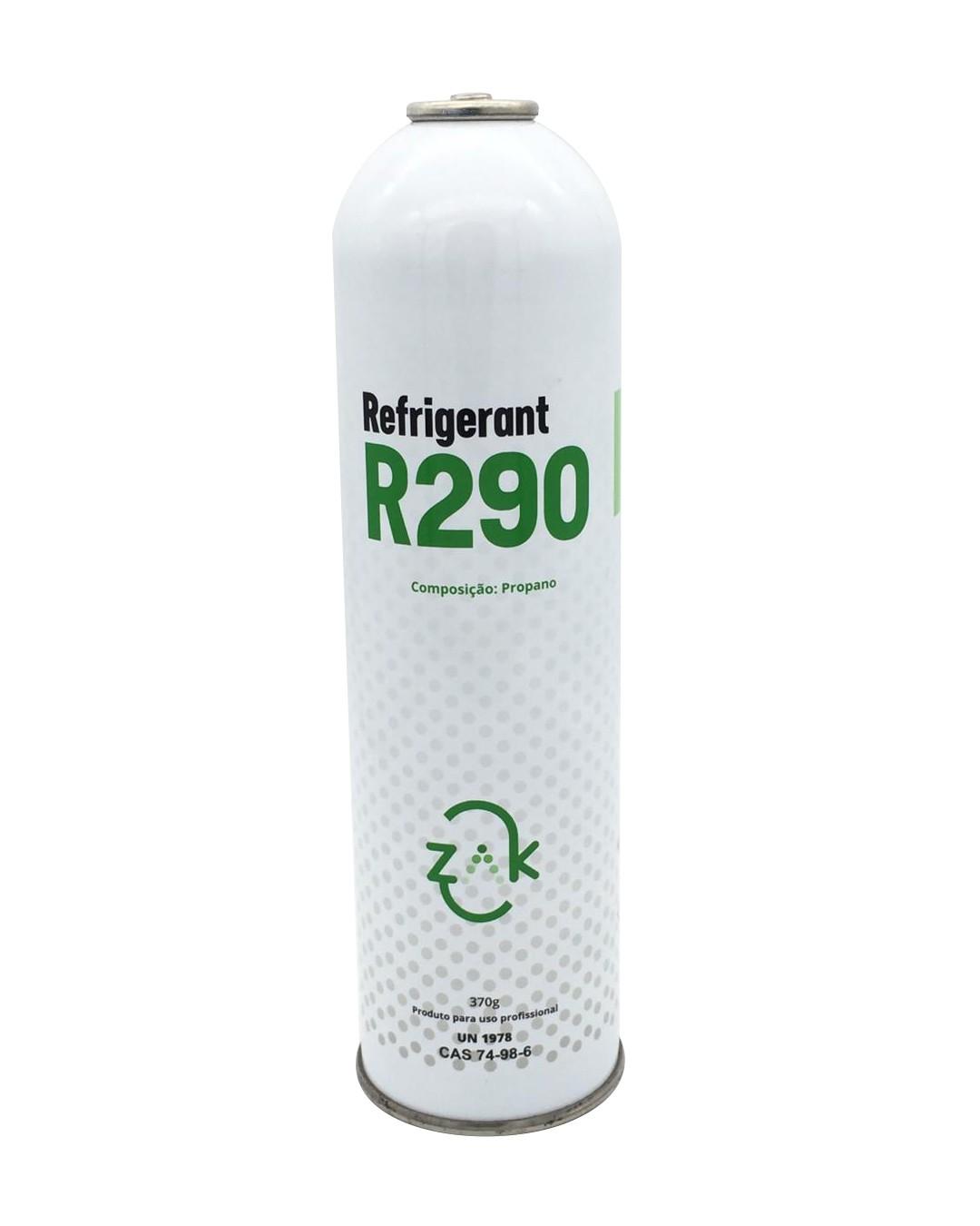 Gás Descartável Refrigerante R2900 Zak Cilindro de 370g