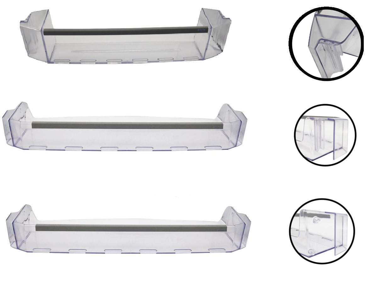 Kit 3 Prateleiras de Garrafas Para Refrigeradores Mabe / Bosch / GE / Continental