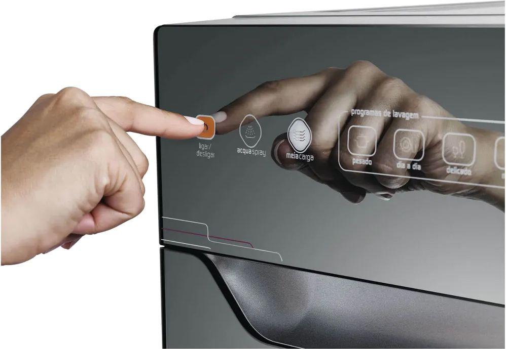 Lava Louças 10 Serviços Slim Prata Espelhada com Ciclo Pesado - Brastemp