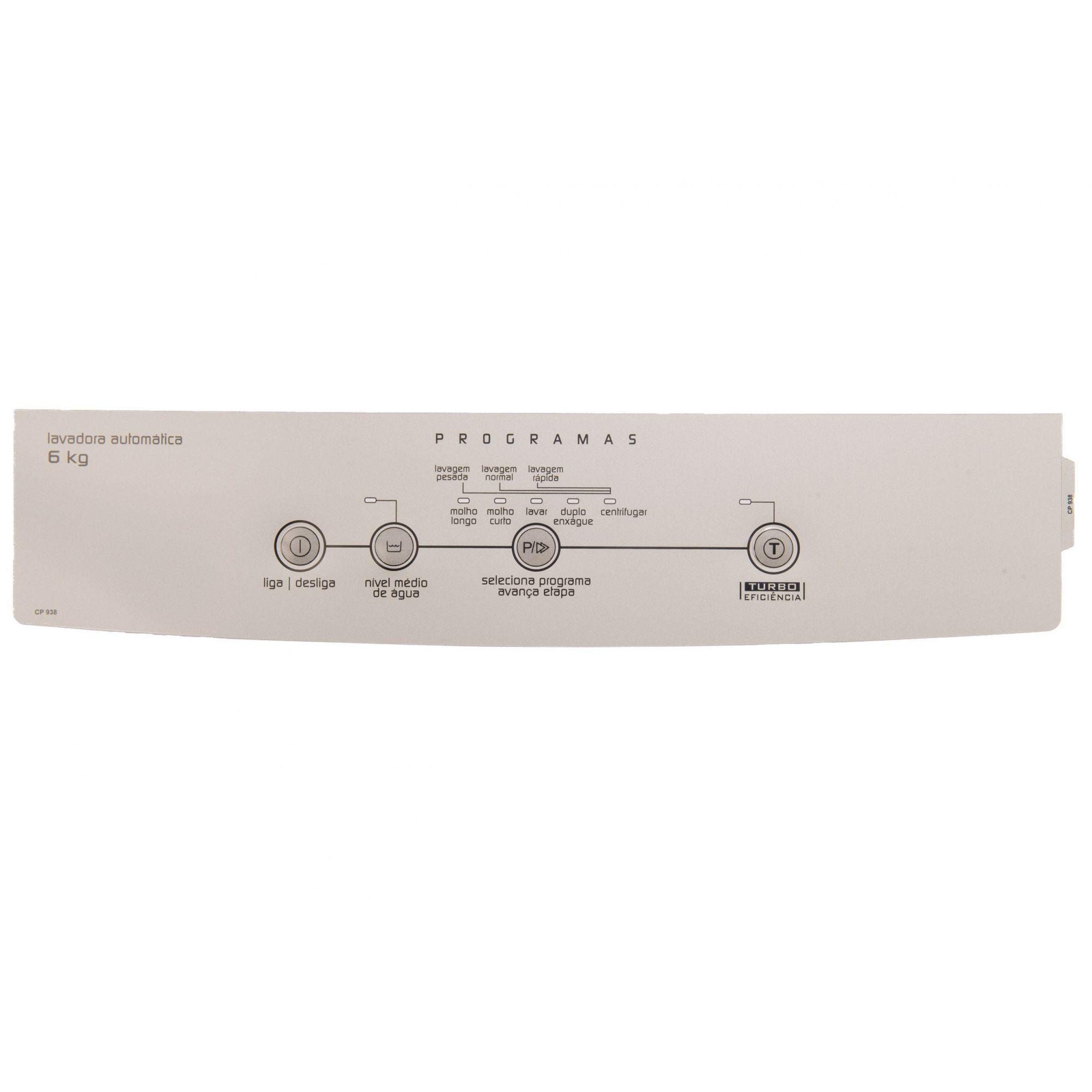 Painel Decorativo Compatível Lavadora BWC06A Turbo 6KG 326047487-CP0938