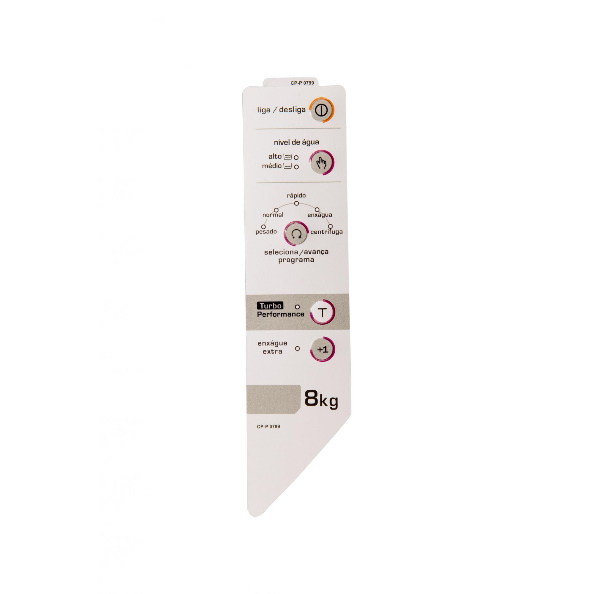 Painel Decorativo Compatível Lavadora BWC08A Turbo Direito W10162698-CP0799