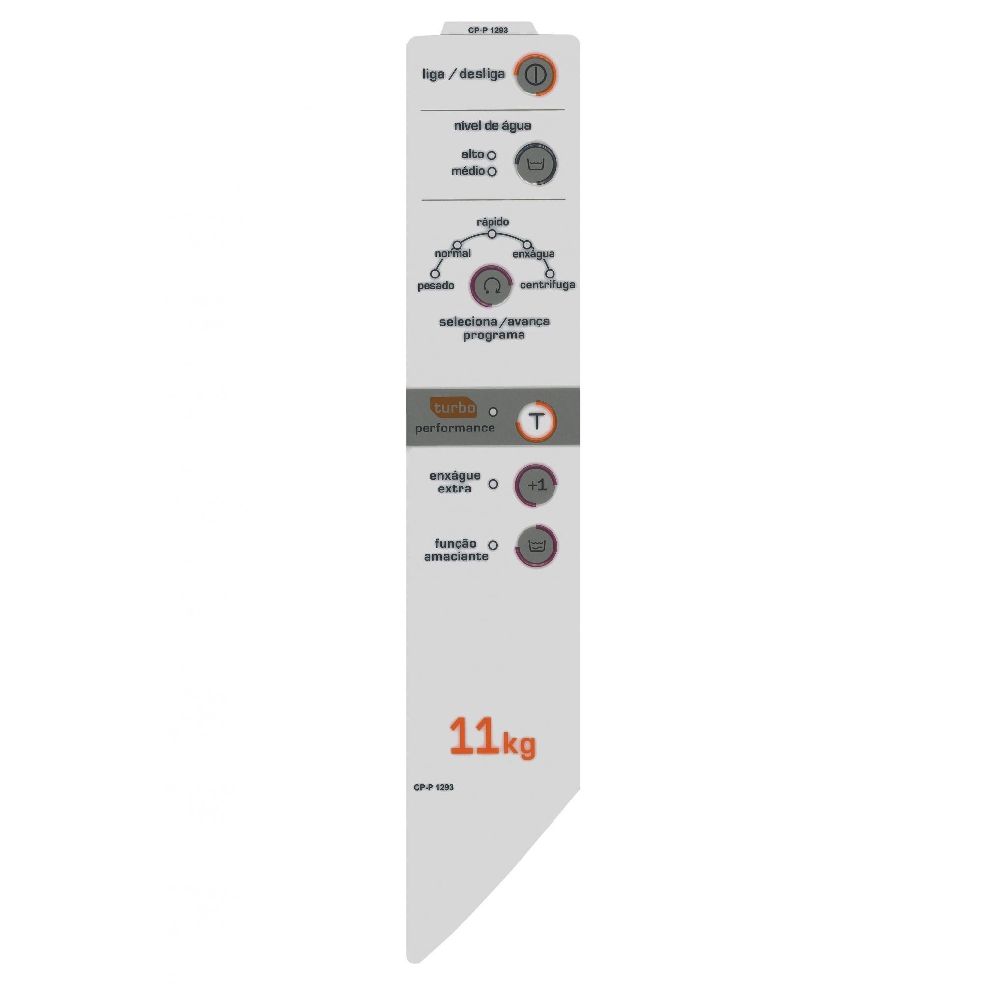 Painel Decorativo compatível lavadora BWC11A - Direito W10625296-CP1293