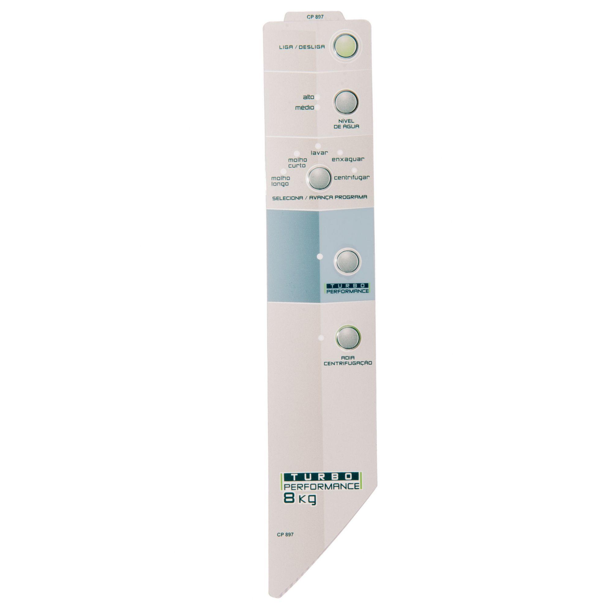 Painel Decorativo Compatível Lavadora BWF08B Turbo 8Kg Velazquez Direito 326040915-CP0897