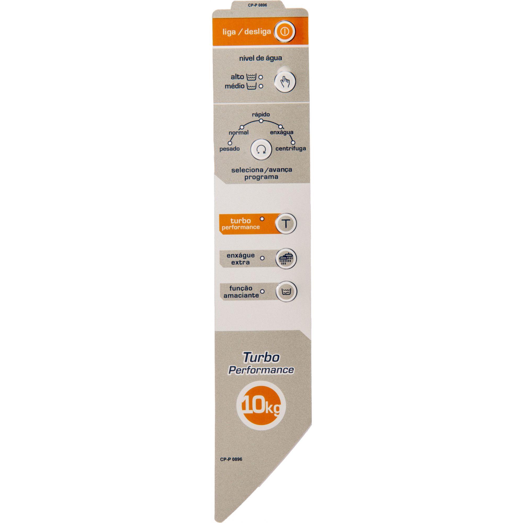 Painel Decorativo Compatível Lavadora BWG10A BWC10 Turbo 10kg Velazquez Direito 326059678-CP0896