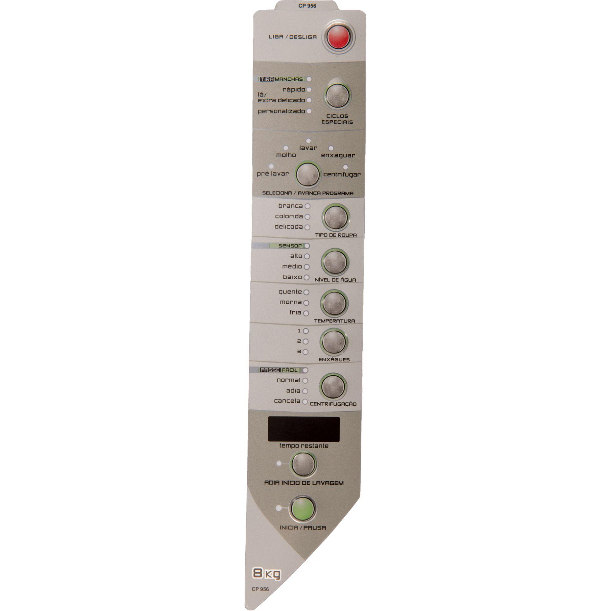 Painel Decorativo Compatível Lavadora BWH08B 8KG Passe Fácil Direito 326035819-CP0956