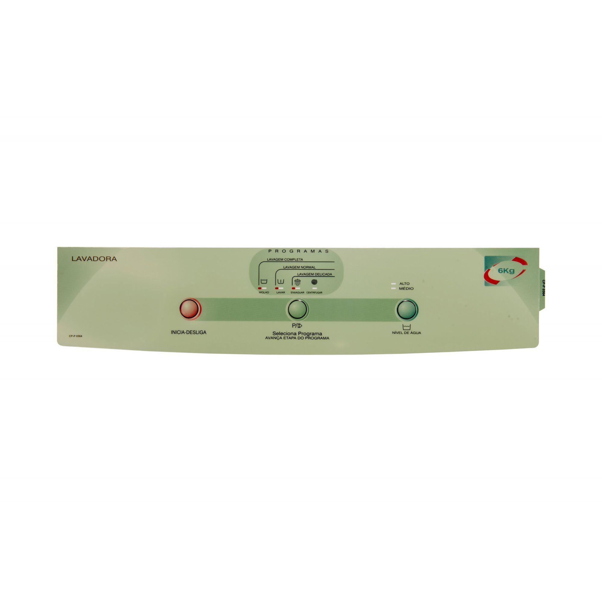 Painel Decorativo Compatível Lavadora BWM06A Smart 326025133-CP0564