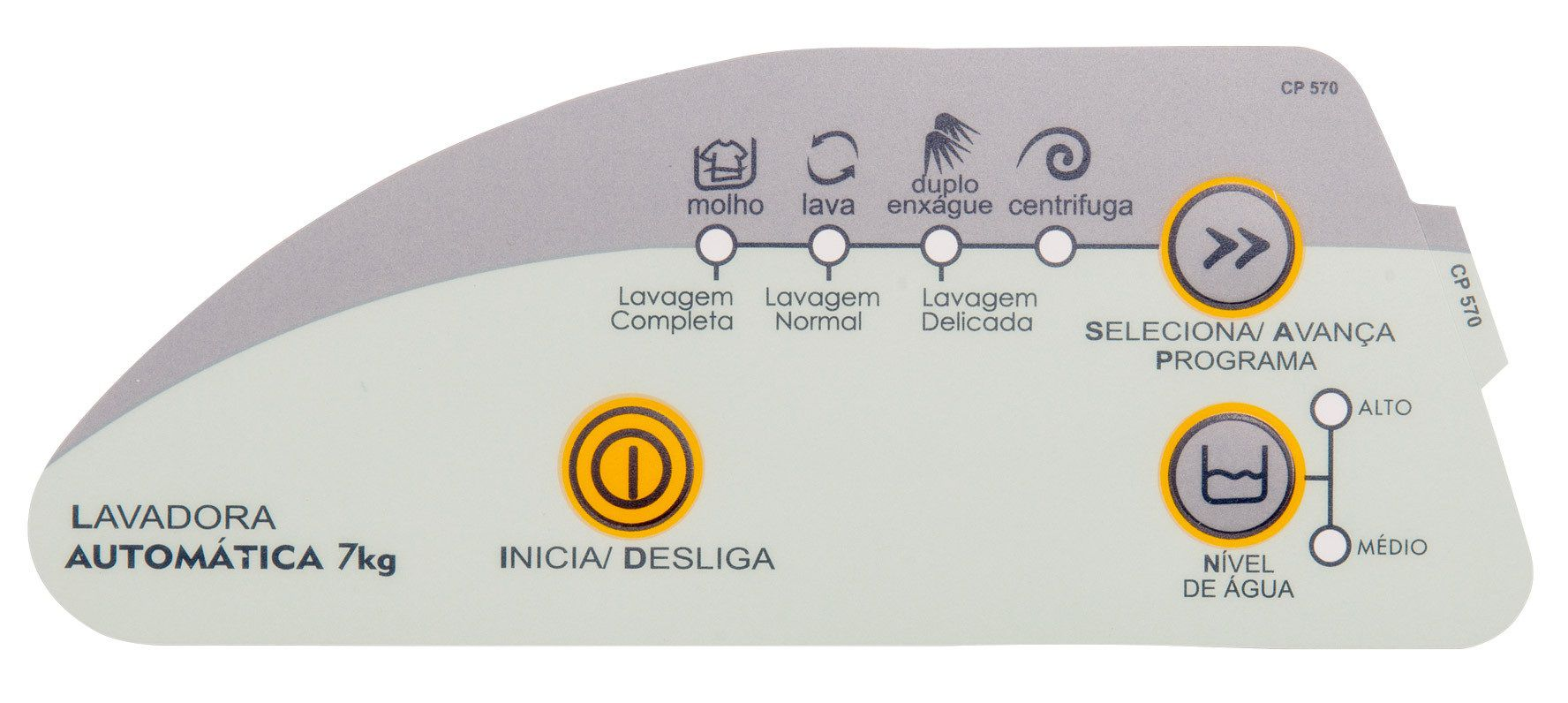 Painel Decorativo Compatível Lavadora CWC24A 7kg 326008412-CP0570