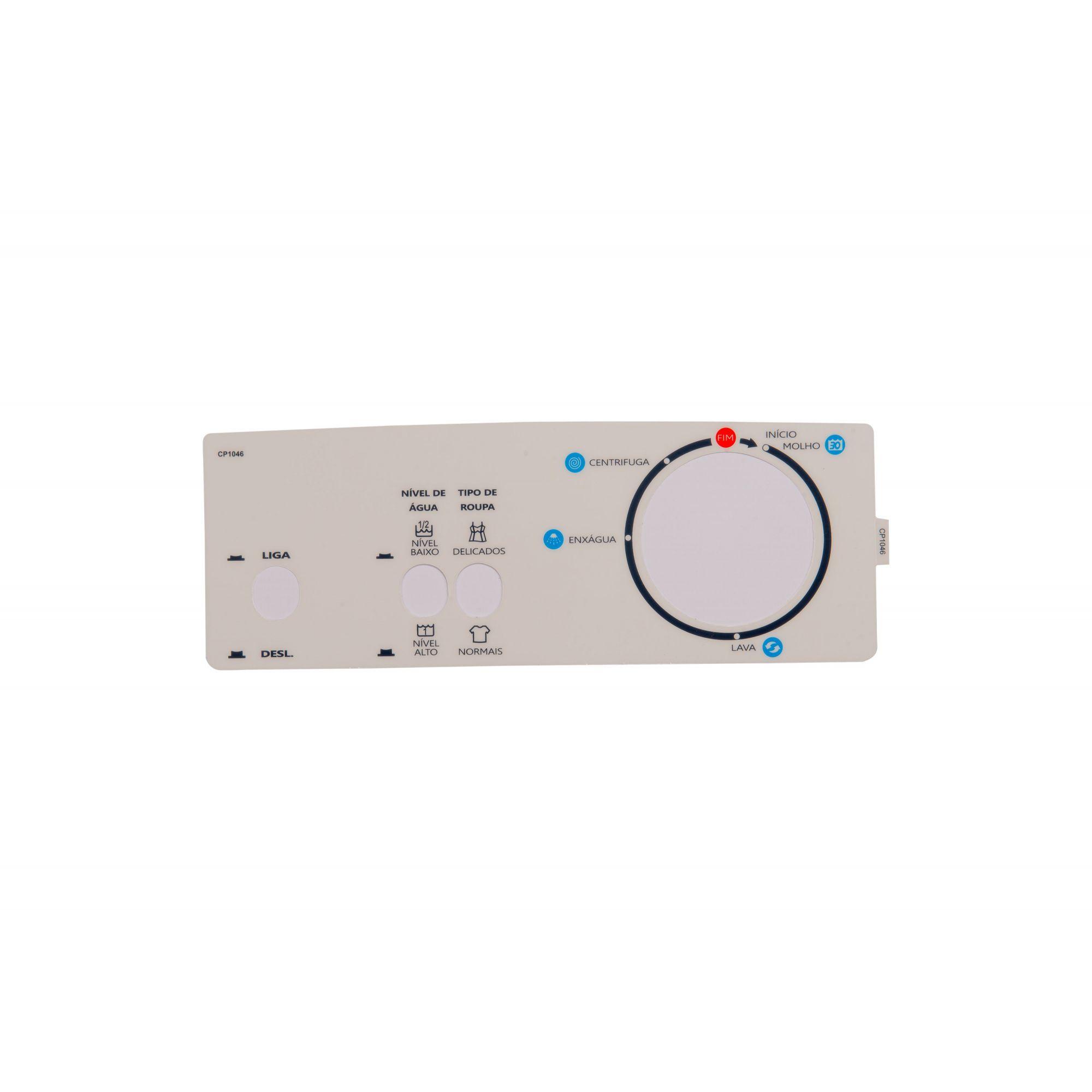 Painel Decorativo Compatível Lavadora Liga-Desliga Tipo Roupa Nível 391549-CP1046