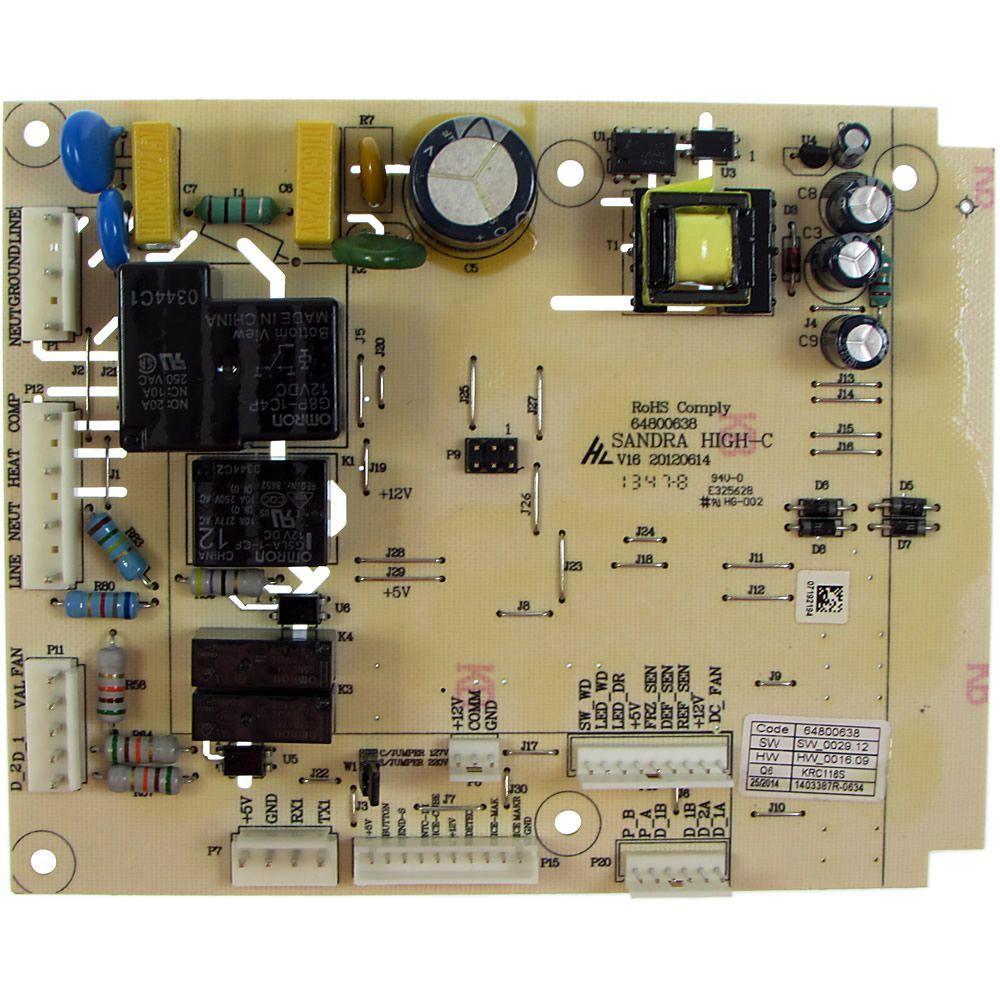 Placa De Controle Refrigerador Electrolux DFI80/ DI80X/ DT80X  110v Código: 64800638
