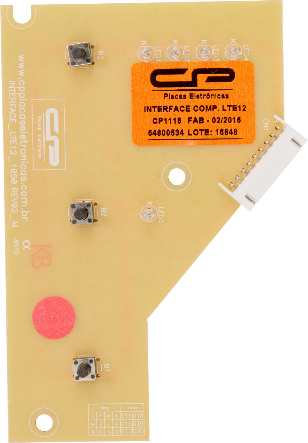 Placa Interface Lavadora - Electrolux
