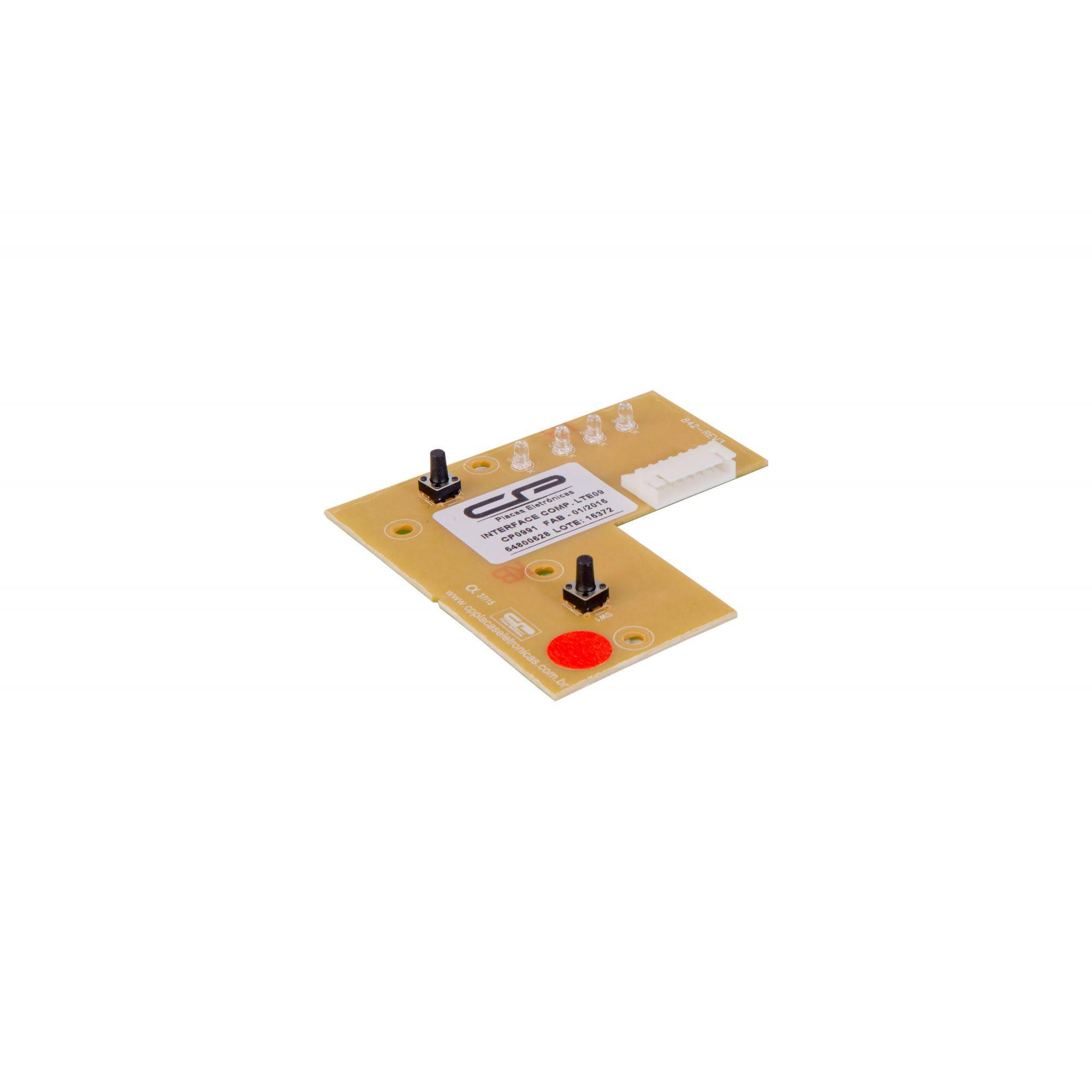 Placa Interface Lavadora Electrolux Lte09 Bivolt Cp  (CP991)