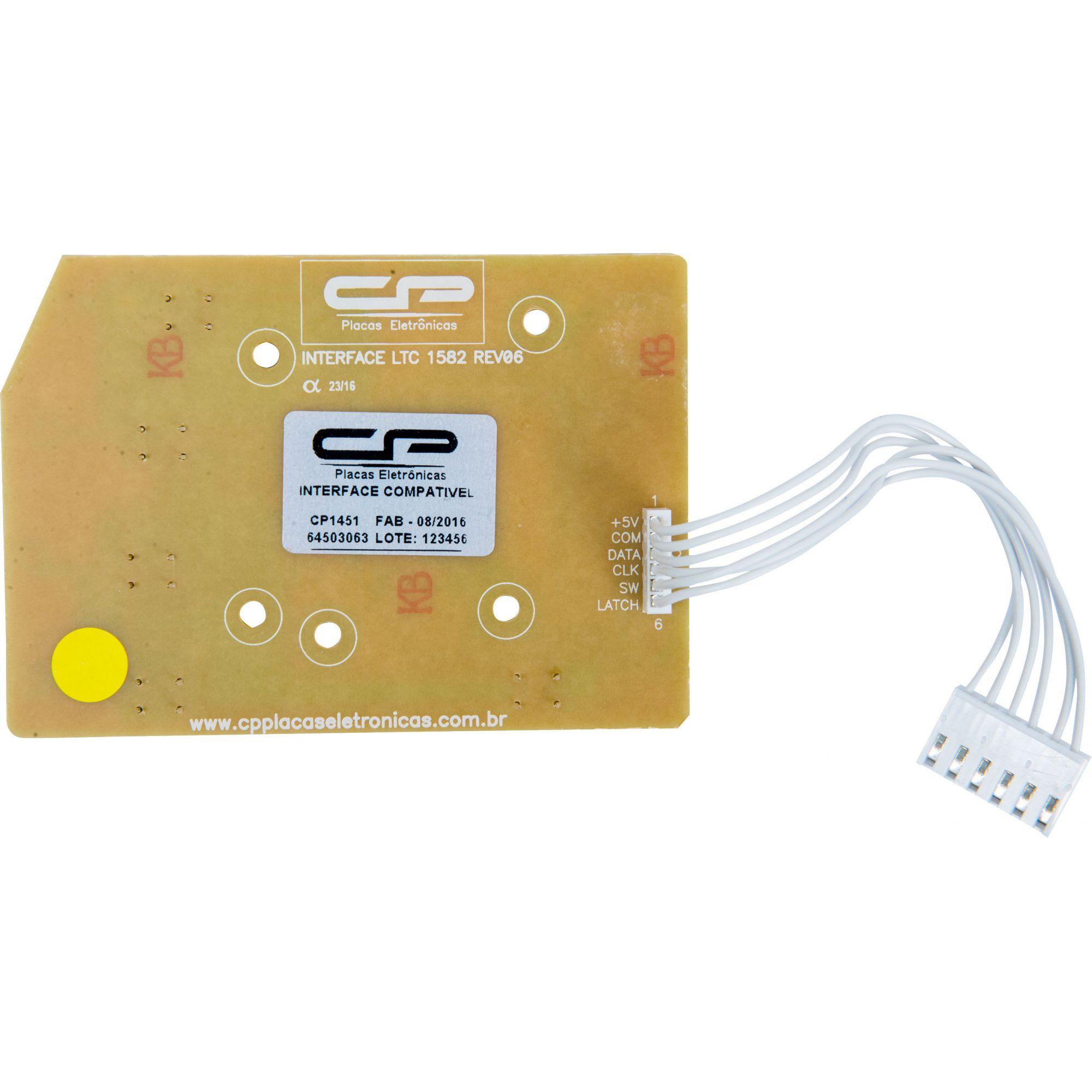 Placa Interface LTC10 / LT12F / LT15F / LTD09 / LTD11 / LTD13 / LTD15 LED Azul Bivolt (CP1451)