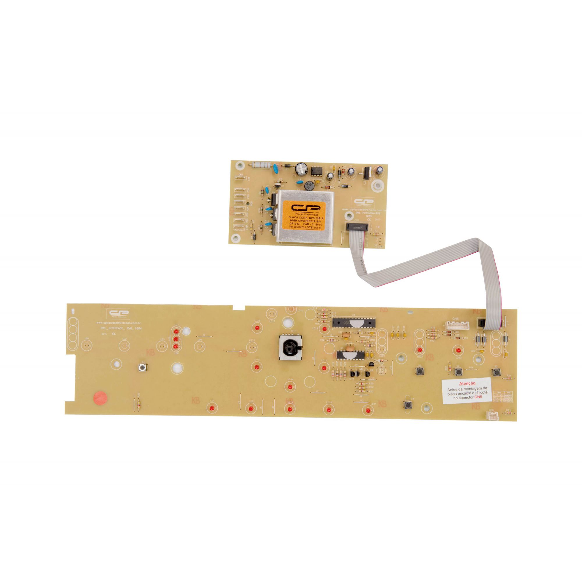 Placa Lavadora BWL09B Potência com Interface  Bivolt W10308925 (CP1043)