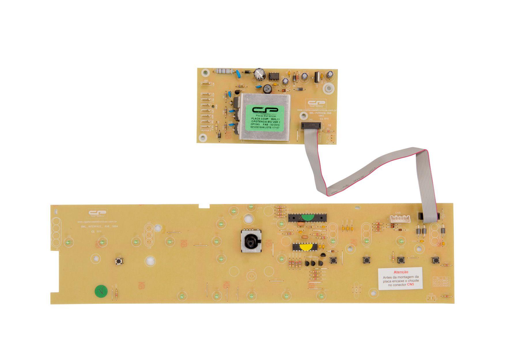 Placa Lavadora BWL11 Com Potência + Interface  Bivolt Versão 2 (CP1045)