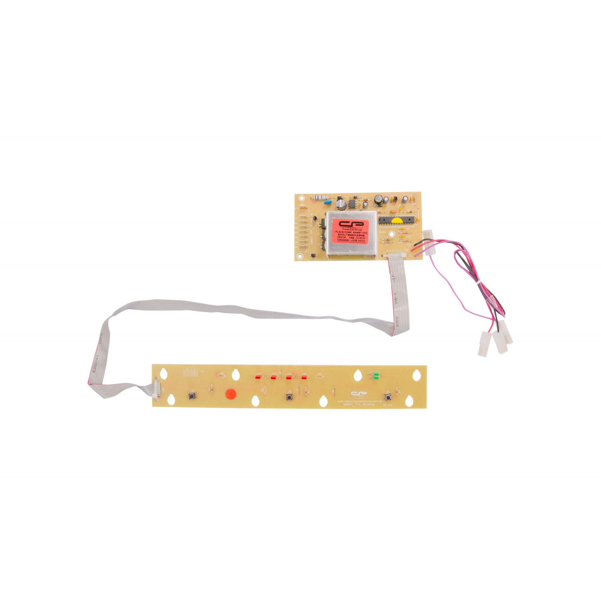 Placa Eletrônica Lavadora Brastemp Smart Bwm05 Bwm06 Bwb22 05kg Bivolt Cp (CP0135)