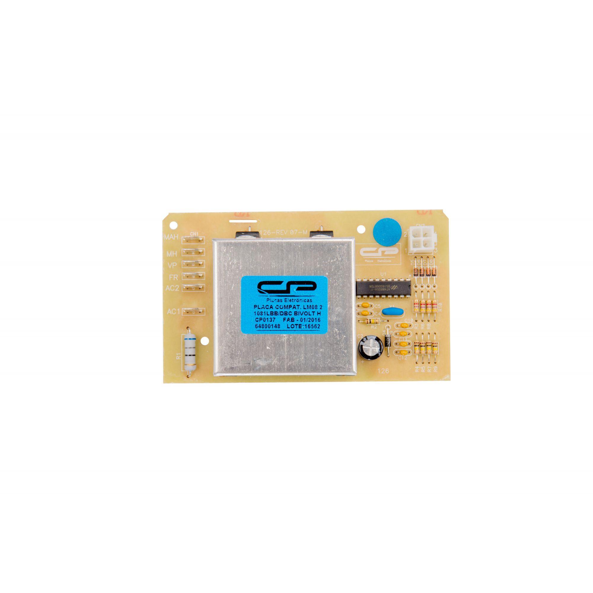 Placa Eletrônica Bivolt Lavadora - Electrolux