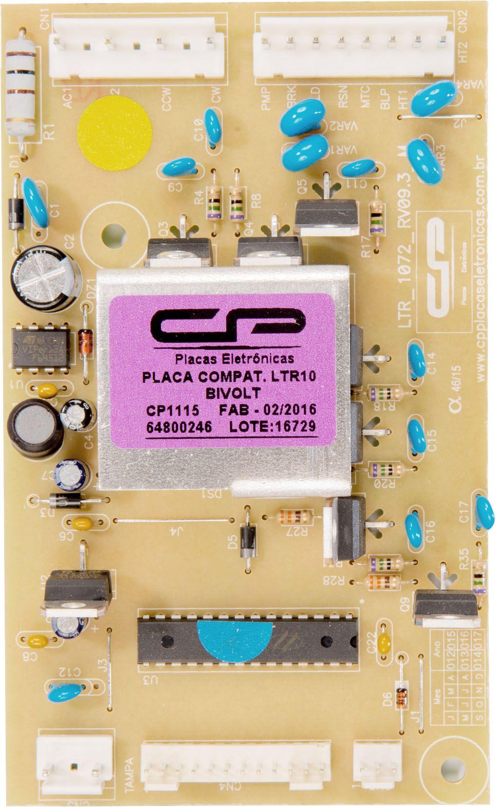 Placa Lavadora LTR10 Bivolt (CP1115)