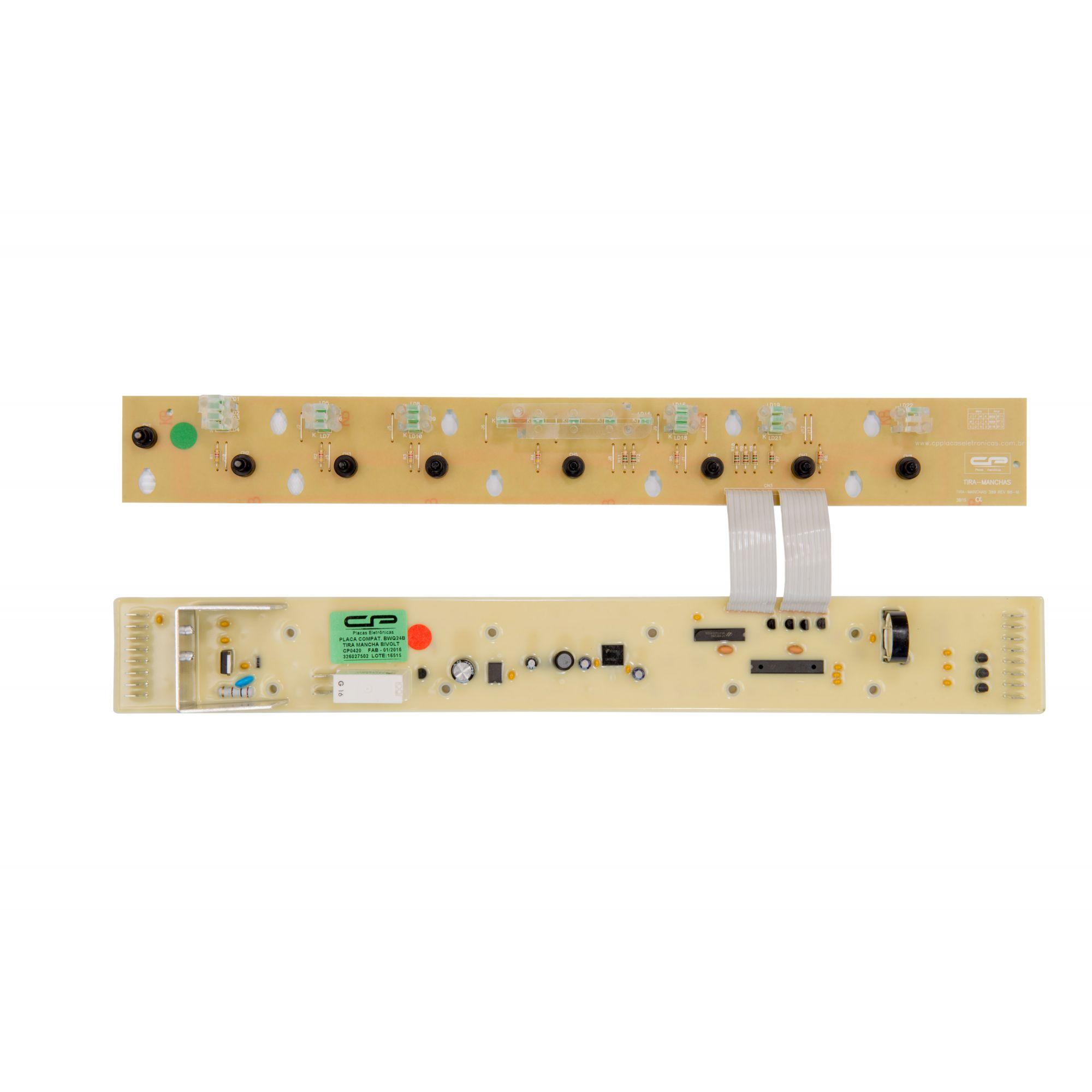 Placa Eletrônica CP0420 Lavadora Tira Mancha Bivolt - Brastemp
