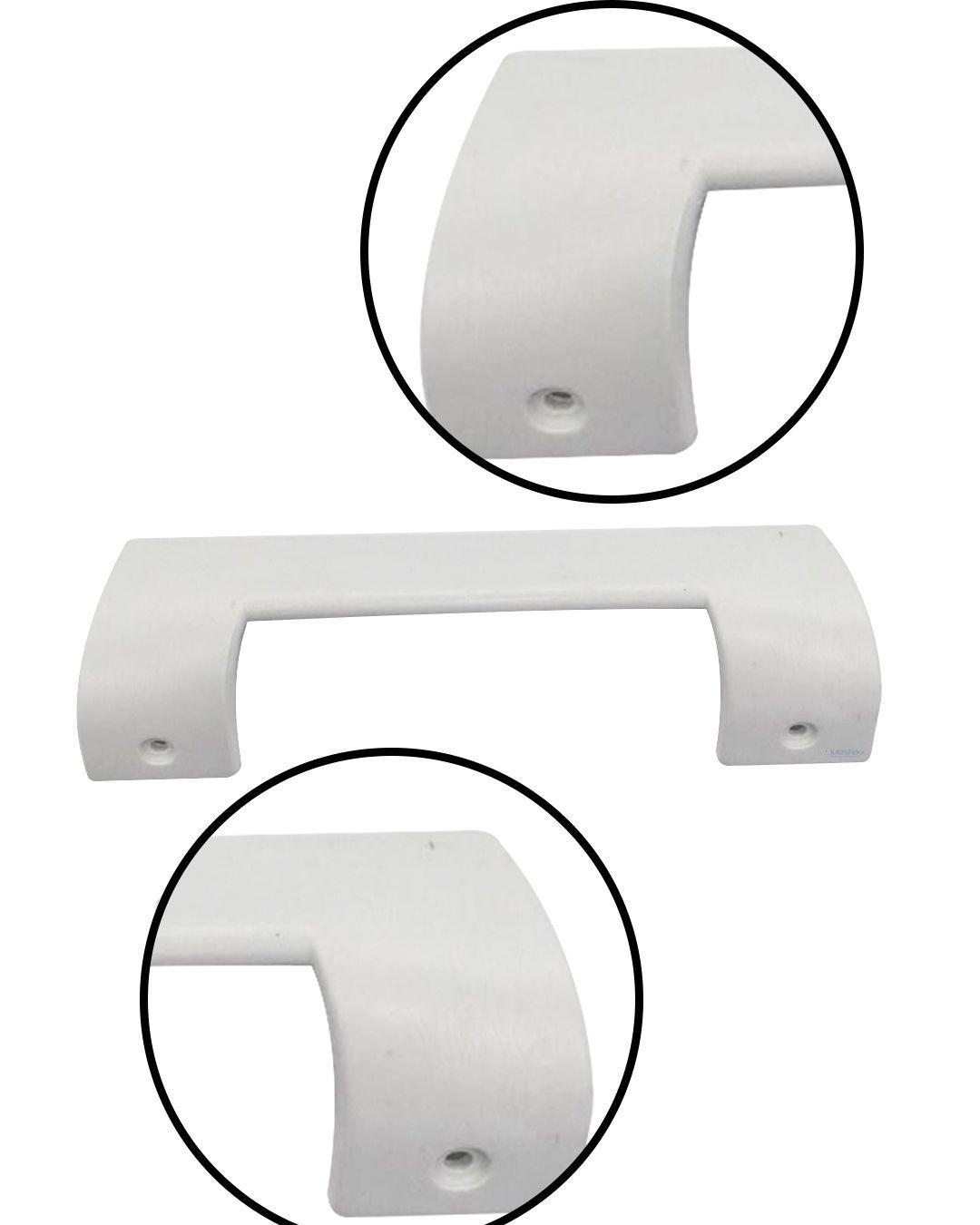 Puxador Branco Continental Rsv35 - Rsv42 - Rsv46 - Rsg33