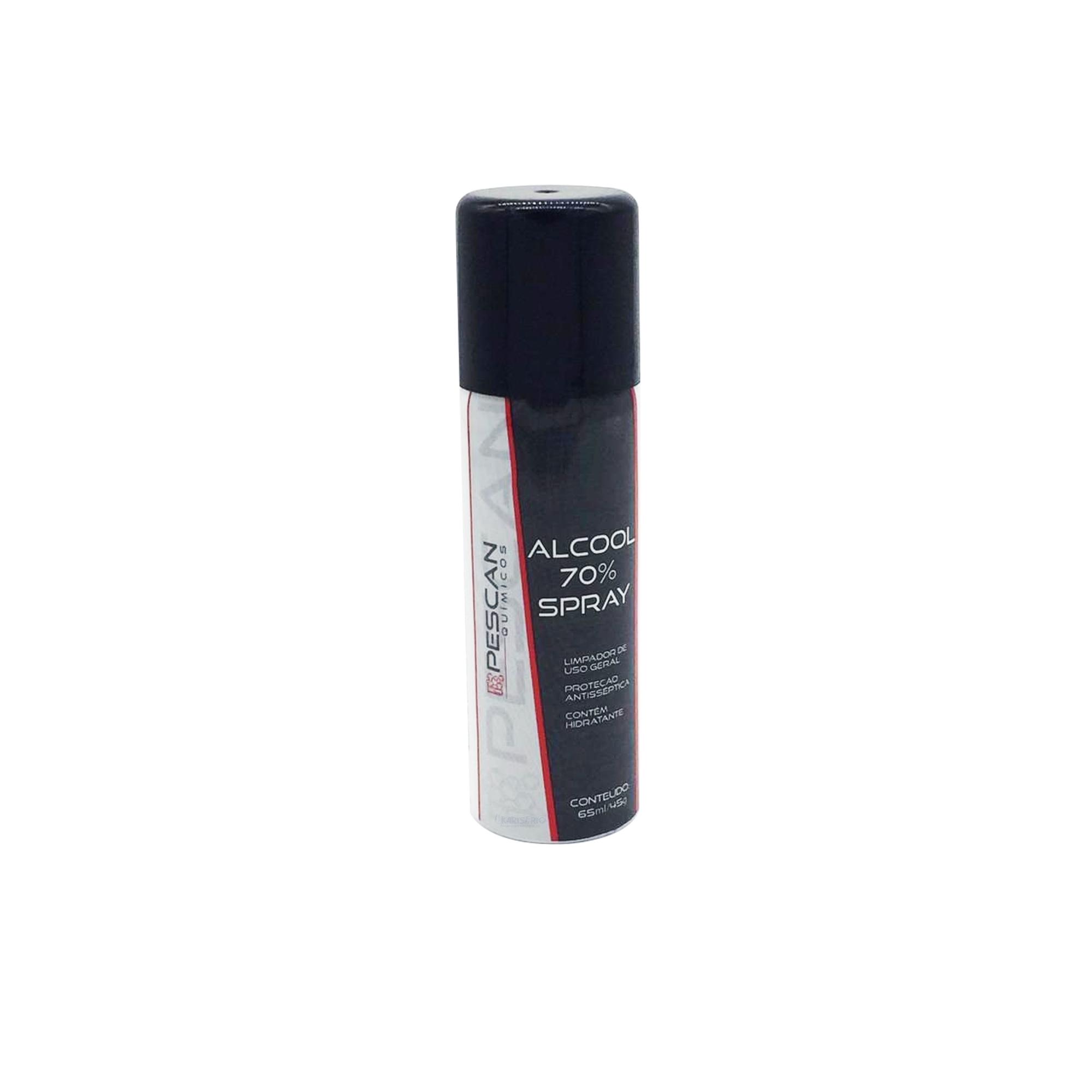 Spray Álcool 70% Antisséptico Higienizador 65 ml