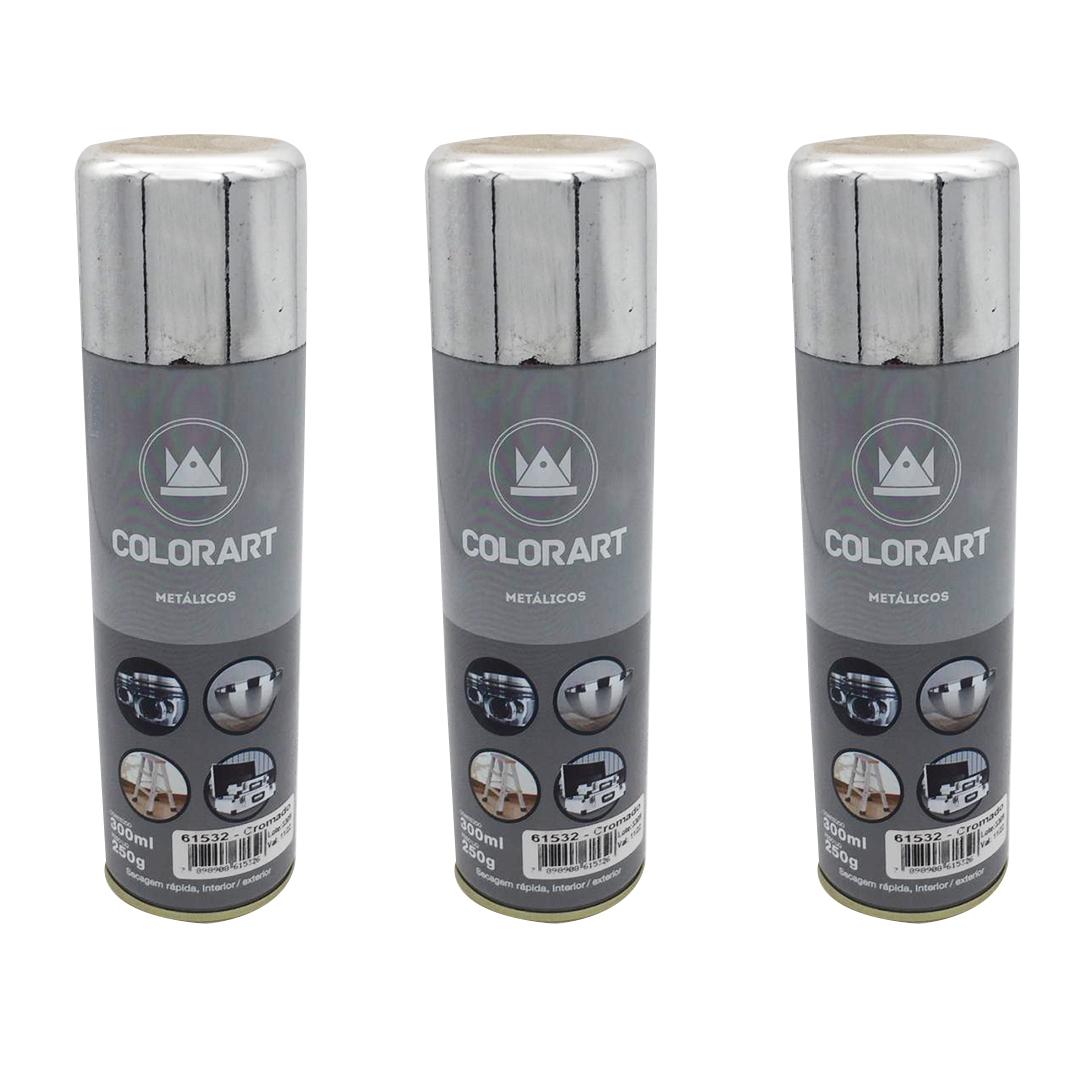 Tinta Spray Metalik Cromada Colorart