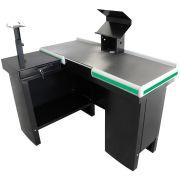 Checkout Caixa de Supermercado Metálico INNAL com Kit para Automação e Furação Balança - 1,30 de Largura