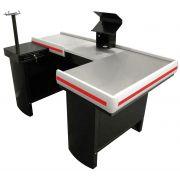 Checkout Caixa de Supermercado Metálico INNAL com Kit para Automação e Furação Balança - 1,50 de Largura