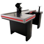 Checkout Caixa de Supermercado Metálico INNAL com Kit para Automação e Furação Balança - 1,80 de Largura