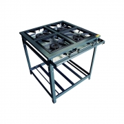 Conjunto Fogão Standard Alta Pressão 4 Queimadores Simples Com Forno 70 Litros Kit Alta Pressão - Innal