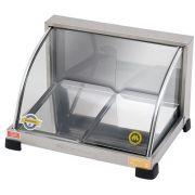 Estufa p/ Salgados Curva c/ Iluminação LED Marchesoni 2 Bandejas Linha Prata - EF.5.021-022