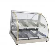 Estufa Para Salgados Dupla 6 Bandejas Aquecedor de Salgados Vidro Curvo Gás - Supritecs Equipamentos
