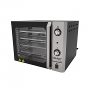 Forno Turbo Convector Elétrico Porta de Vidro 55 Litros Smart Basic Com 4 Esteiras Painel Inox - Venâncio