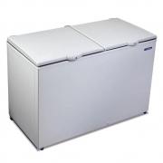 Freezer Refrigerador Horizontal 2 Tampas DA420 Epóxi Branco Dupla ação 419 Litros - Metalfrio