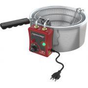 Fritadeira Tacho Elétrica 3 Litros Metalcubas - TFRE 3