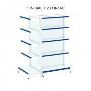 Gôndola Central 2 Pontas e 1 Inicial Amapá Azul